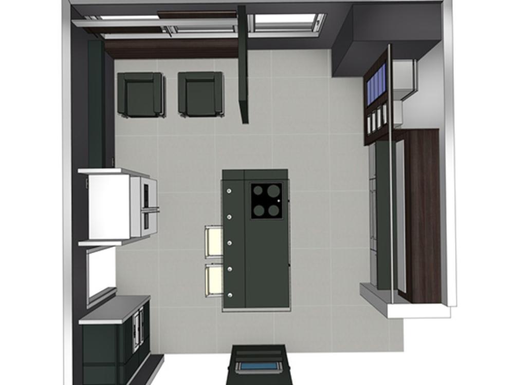 Küchenplanung in der Ausstellung bäderwerk